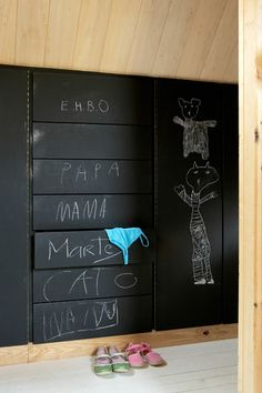 I have the perfect wall for this and had just thought about doing a chalkboard wall there.