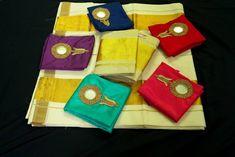 Kasavu Saree, Kerala Saree, Mirror Work, Sari, Gift Wrapping, Blouses, Traditional, Gifts, Collection