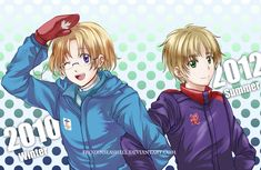 Hetalia- Olympics Canada and England by FrozenSeashell.deviantart.com on @deviantART - Vancouver in 2010 and London in 2012 - both were amazing to watch :)