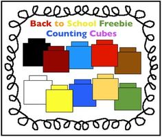 Free Counting Cubes Clipart for Math created by Charlotte's Clips