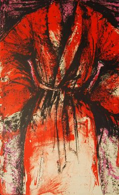 Jim Dine A Robe in Los Angeles 1984 Print Hand Embellished Signed