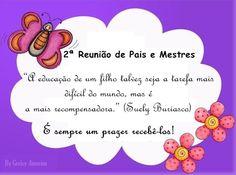 Mensagem Reunião De Pais Casa Familia Pinterest Education
