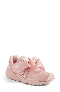 Free shipping and returns on PUMA FENTY by Rihanna Bow Sneaker (Women) at Nordstrom.com. Part of a collaboration with Rihanna's FENTY label, a sporty PUMA sneaker goes girly in lustrous satin, all wrapped up in a casually knotted bow.