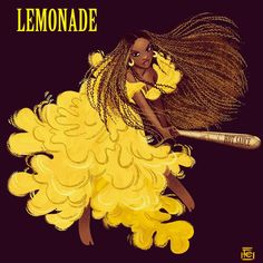 Beyoncé Hold Up Lemonade Art