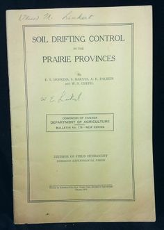 1935 Soil Drifiting Control Prairie Provinces Alberta Saskatchewan Manitoba New Series, Unique, Ebay