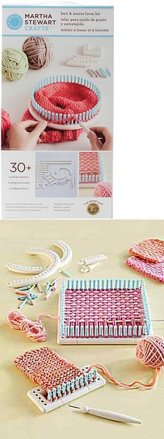Knitting Boards and Looms 113343: Martha Stewart Crafts Knit And Weave Loom Kit From Lion Brand -> BUY IT NOW ONLY: $38.95 on eBay!