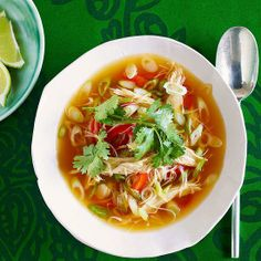 A twist on a classic: Spicy Asian Chicken Noodle Soup
