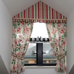 High quality linen fabric american style curtain triangle window special shaped window attic roof-inCurtains from Home & Garden on Aliexpres...