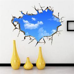 3D Wallpaper White Clouds In Blue Sky Luxury Creative Bedroom Living Ceiling Painting Roofs Room High Quality Wall Stickers(China (Mainland))