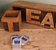 Mango Wood Tea Drawer – $115