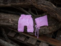 Pink Newborn Baby Bonnet and Pants Bonnet and by GabriCollection