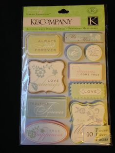 K & Company Grand Adhesions  Wedding Tags  by CynthiasCraftingNook