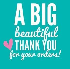 A big beautiful thank you for your orders! (group thank you) SparkleWithJennifer.OrigamiOwl.com