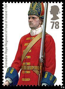 British Stamp 2007 - Military Uniforms Grenadier Royal Regiment of Foot of Ireland 1704