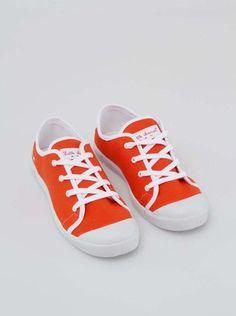 Little Marcel - Oranžovočervené tenisky  Samba Uni - 1