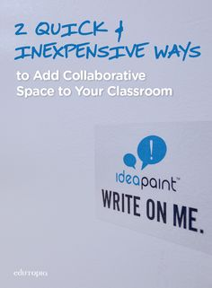 Starting to get your classroom ready for back-to-school? These 2 quick and inexpensive DIY whiteboard hacks will add collaborative space to any room.