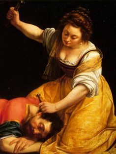 Detail of Jael and Sisera by Artemisia Gentileschi, 1620