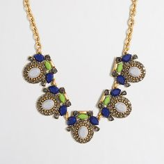 J.Crew Factory  Factory framed stones necklace