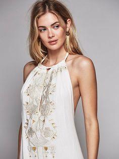 Megan Williams || FP Jen's Pirate Booty Juliet Halter Dress (Natural)