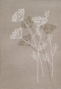great idea for hand towels Design Works Queen Anne's Lace - Candlewicking Embroidery Kit. Candlewicking Embroidery Kit from Design Works featuring delicate flowers. This Embroidery kit co Crewel Embroidery Kits, Hardanger Embroidery, Embroidery Needles, Japanese Embroidery, Learn Embroidery, Silk Ribbon Embroidery, Hand Embroidery Patterns, Machine Embroidery, Embroidery Books