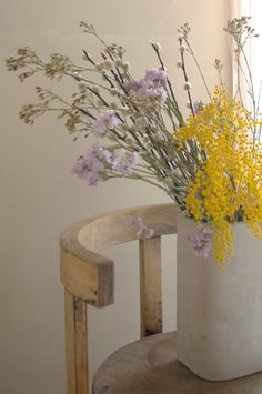 Ensuite: my Paris flat Nature Aesthetic, Flower Aesthetic, My Flower, Beautiful Flowers, Mellow Yellow, Purple Yellow, Light Purple, Ikebana, Planting Flowers