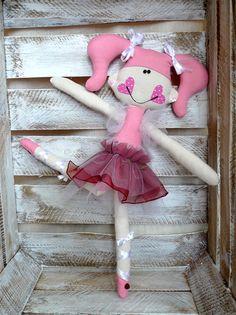 Artesanal boneca bailarina boneca de pano, bonecas de tecido, bailarina com tutu, bailarina das meninas da boneca, bailarina fada,.