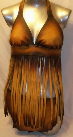 70's style fringe halter - dleather etsy. Had one of these! I loved it!