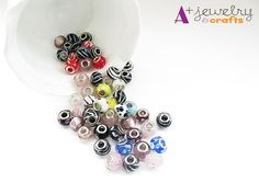 SUPER SALE Price:Glass beads yellow red by APlusJewelryCrafts