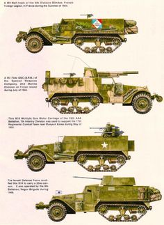M3 Halftrack Variants