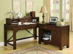 Riverside Castlewood Writing Desk with Options - Desks at Hayneedle