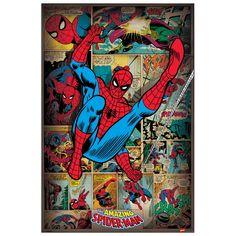 MARVEL COMICS - Spider-man Retro 60x90 cm #artprints #interior #design #art #print #cartoon  Scopri Descrizione e Prezzo http://www.artopweb.com/categorie/cartoni/EC21928
