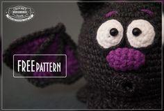 #crochet, free pattern, amigurumi, bat, stuffed toy, Halloween, #haken, gratis patroon (Engels), vleermuis, knuffel, speelgoed, #haakpatroon