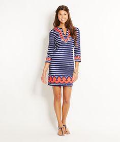 Shop Dresses: Border Print Tunic Dress for Women | Vineyard Vines