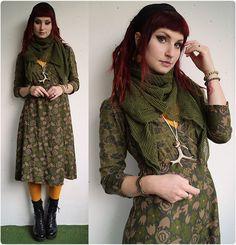 Get this look: http://lb.nu/look/7892120  More looks by Rabbit Heart: http://lb.nu/user/201437-Rabbit-H  Items in this look:  Gudrun Sjõdén Dress, Vagabond Shoes   #bohemian #mori-kei