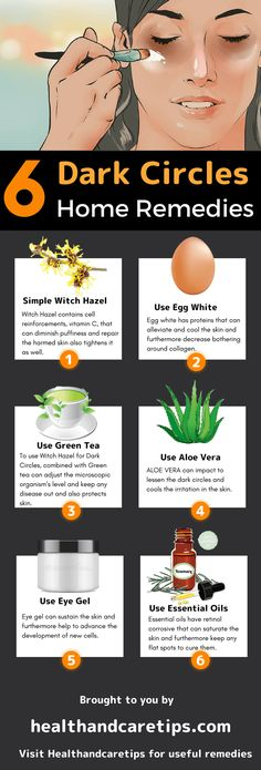 witch hazel for dark circles infographic