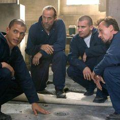 Scofield, Abruzzi, Burrows & T-Bag Sarah Wayne Callies, Wentworth Miller, Twin Peaks, Prison Break 2, Prison Break Quotes, Wade Williams, Sara Tancredi, Michael Schofield, Last Minute