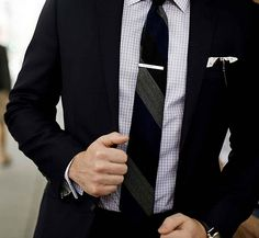 Take a cue from Mad Men and get a tie clip.