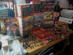 Warhammer Lot of Miniatures,Parts Without Boxes,Boxed & Sealed Unopened Boxes Game Cards, Card Games, Toy Boxes, Pinball, Vintage Toys, Seal, Miniatures, Old Fashioned Toys, Toy Chest