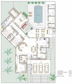 Gostei muuucho!! Projeto de casa térrea de 3 quartos com 198,64m²: