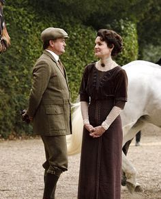 Robert and Cora Crawley of Downton Abbey, played by Hugh Bonneville and Elizabeth McGovern, respectively.