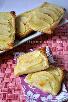 sfoglie alle mele con crema pasticcera
