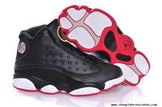 e7d8b1e686a9 Authentic AIR JORDAN 13 Black True Red-White Nike Lebron