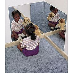 Preschool Acrylic Corner Mirror - P30246 and more School Furniture