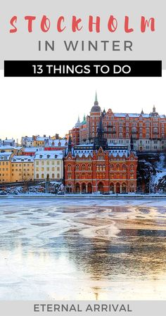 Stockholm in winter is a wonderful place to visit, with many things to do. Food tours, museums, walking tours, the Old Town...  #wintertravel #sweden #visitsweden
