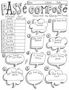 Beber Comer Spanish verb activity worksheet practice no