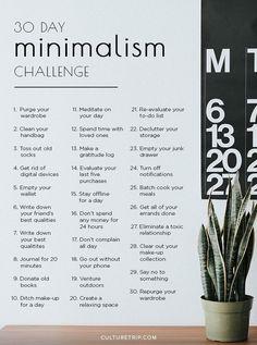 The Minimalism Challenge, # . - The 30 day minimalism challenge, # - Minimalist Furniture, Minimalist Decor, Minimalist Kitchen, Minimalist Interior, Minimalist Living, Minimalist Bedroom, Modern Minimalist, Minimalist Wardrobe, Minimalism Challenge