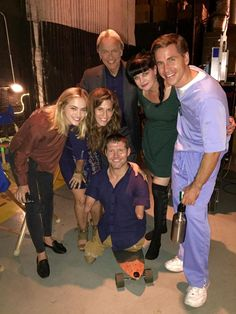 Emily Wickersham, Mark Harmon, Pauley Perrette, Brian Dietzen, and friends