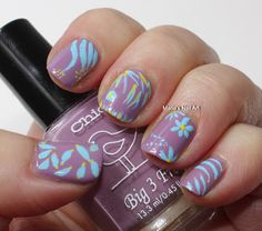 Abstract Honey Bunch - quick doodling mani