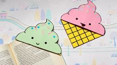 DIY Icecream bookmark corners | Back to school supplies | Paper crafts |...