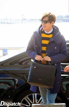 Lee Min Ho at Incheon International Airport and Charles de Gaulle International Airport - 10.03.2015